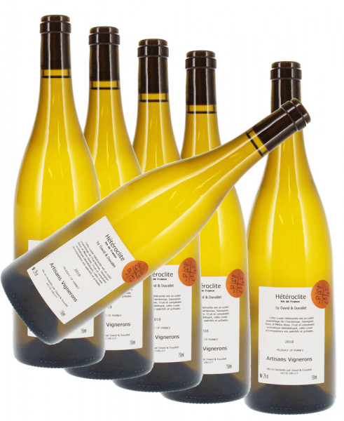 6 Flaschen Hétéroclite Weißwein Cuvée Heteroclite