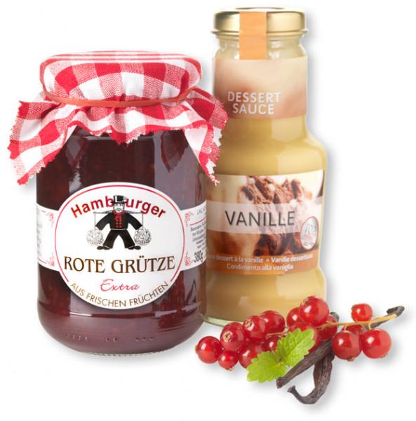 Hamburger Rote Grütze mit Vanille-Soße