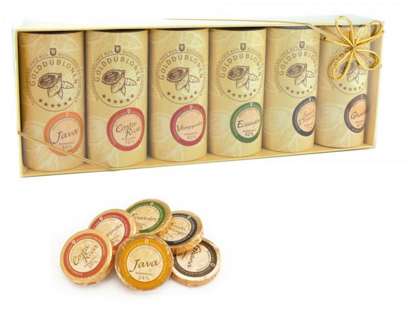 Schokoladen Golddublonen Präsentbox
