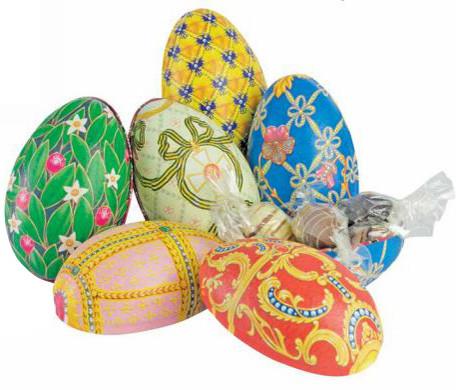 Fabergé Metall-Eier mit 5 Trüffel