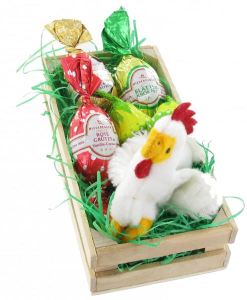 Osterkistchen mit Huhn Henriette
