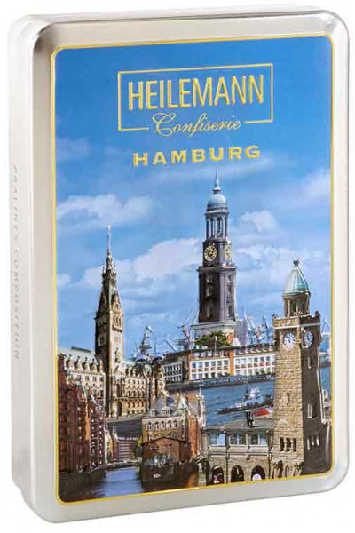Hamburg Reliefdose mit Pralinen