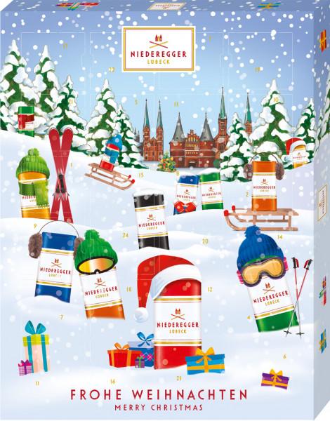 Niederegger Adventskalender Winter Klassiker Variationen