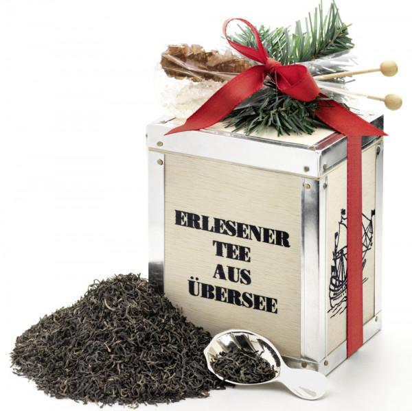 Weihnachts-Teekiste mit Kandiszucker-Rührsticks