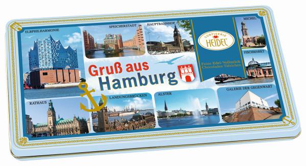 Gruß aus Hamburg Motivdose Chocoladen Täfelchen