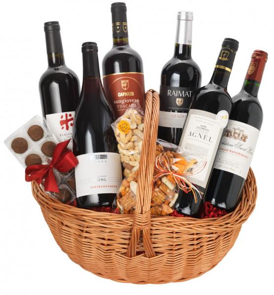 Genießerkorb Rotweinreise durch Europa