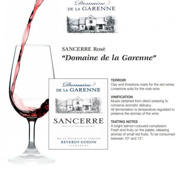 Sancerre Domaine de La Garenne ROSÉ