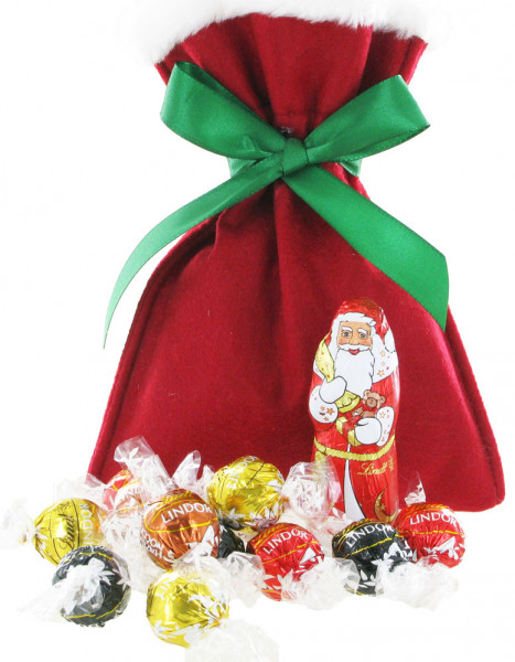 Santa Lindor-Geschenk im Filzsäckchen