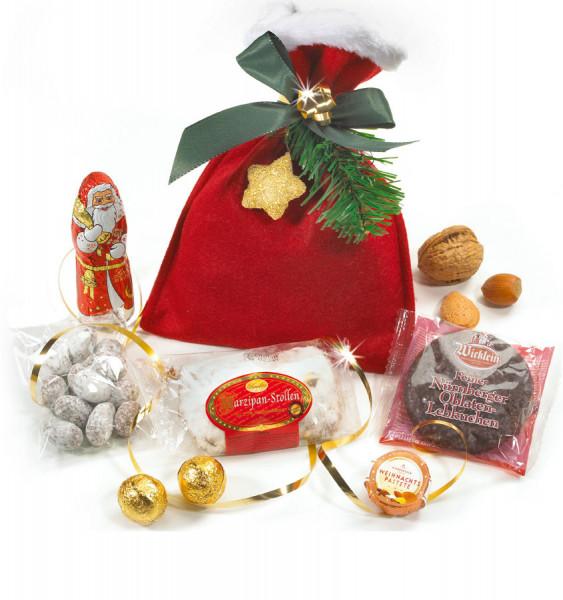 Weihnachtssack mit Confiserie