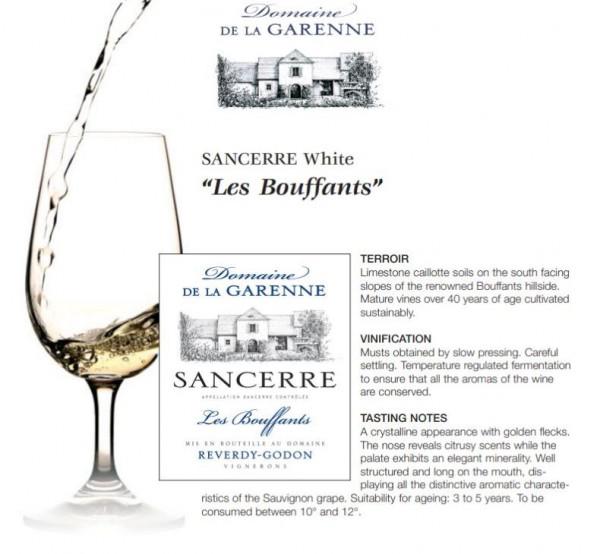 Sancerre Domaine de La Garenne LES BOUFFANTS