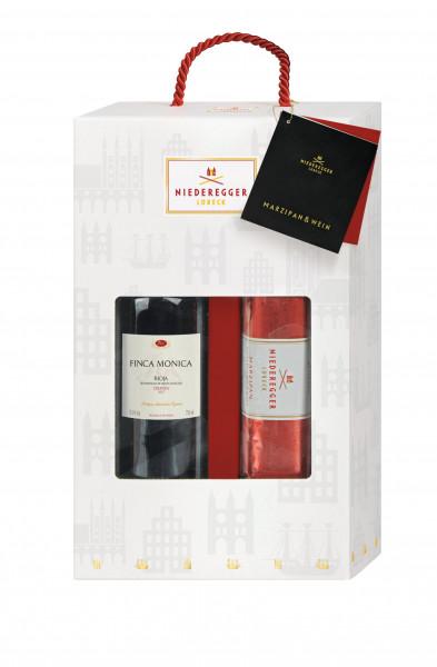 Niederegger MARZIPAN & WEIN: 300g Marzipan Brot + 0,75l. Rotwein