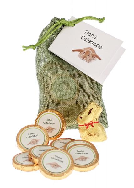 Ostersäckchen grün - Frohe Ostertage