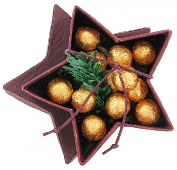 Mit Gold gefüllte Stern-Bonbonniere