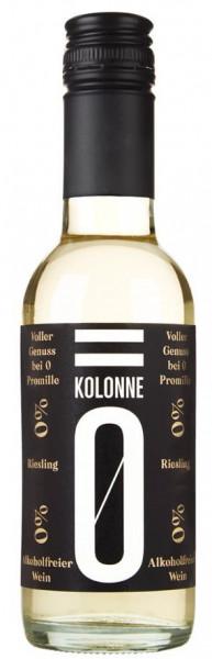 Kolonne Null Riesling - Alkoholfreier Wein - 0,25l.