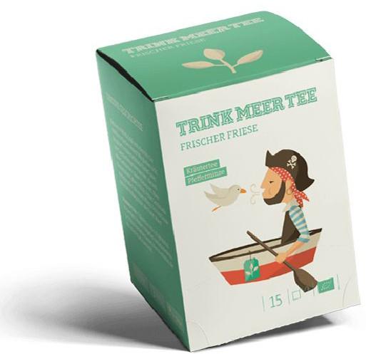 "Trink Meer Tee ""Frischer Friese"" Kräuter/Pfefferminz"