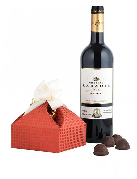 Chateau Labadie Medoc Bordeaux mit Truffes Chocolat