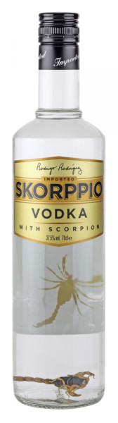 Skorppio Vodka mit Scorpion